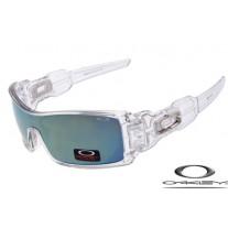 Oakley Oil Rig Sunglasses Transparent Frame Blue Iridium Lens OAKLEY20156135