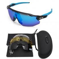 Oakley 2.0 radar ev sunglasses black, blue frame