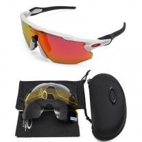 Oakley 2.0 radar ev sunglasses white frame red logo