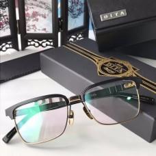 Dita DRX-2076 Sunglasses Square Half Frame Black Gold