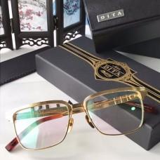 Dita DRX-2076 Sunglasses Square Half Frame Red Gold Frame
