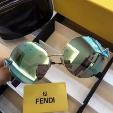 Fendi FF0243 Rainbow Round Sunglasses Blue
