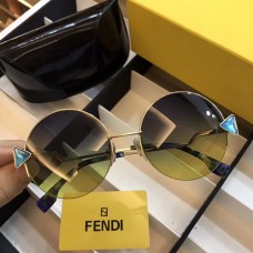 Fendi FF0243 Rainbow Round Sunglasses Gradient Green