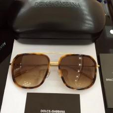 Men's Dolce & Gabbana Sunglasses D2610 Gold Brown