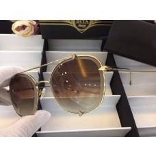 Men's Women's Dita Aviator Gradient Sunglasses Brown Mirror