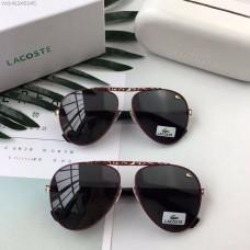 Men's Women's Lacoste Fashion Sunglasses Black Mirror Red Frame