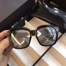 Percy Lau Fashion Square Frame Sunglasses Shiny Black