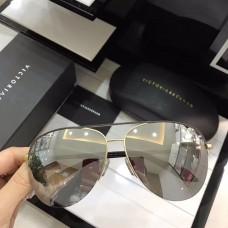 Victoria Beckham Classic Mirrored Sunglasses Black Gold