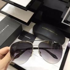 Victoria Beckham Classic Mirrored Sunglasses Black Gray