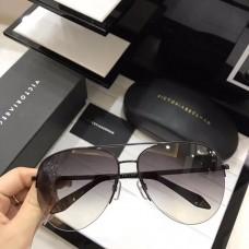 Victoria Beckham Classic Mirrored Sunglasses Black Grey