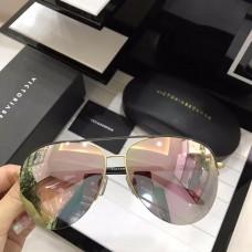 Victoria Beckham Classic Mirrored Sunglasses Black Pink