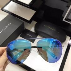 Victoria Beckham Classic Mirrored Sunglasses Blue