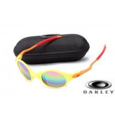 Fake Oakley Mars Sunglasses Yellow Orange Frame Colorful Lens OAKLEY201567216