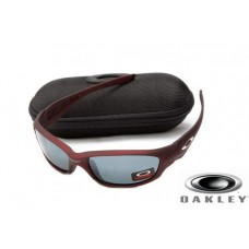 Fake Oakley Straight Jacket Sunglasses Wine Red Frame Gray Lens OAKLEY201567212