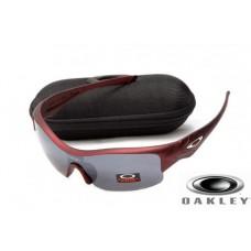 Fake Oakley Straight Jacket Sunglasses Wine Red Frame Gray Lens OAKLEY201567213