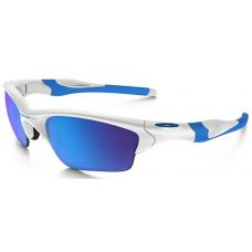 Cheap Replica Oakley Half Jacket Sunglasses White Blue Frame Blue Lens USA