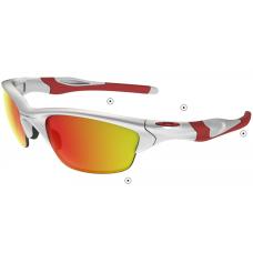 Replica Oakley Half Jacket Sunglasses White Red Frame Fire Yellow Lens For Sale Australia