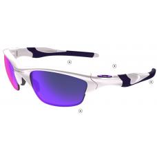 Sale Fake Oakley Half Jacket Sunglasses White Blue Frame Blue Lens Factory Store