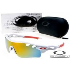Oakley Replicas RadarLock Path Sunglasses Mens Polishing White Vented Yellow Iridium Lens