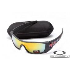 Oakley Batwolf Sunglasses Matte Black / Fire Yellow