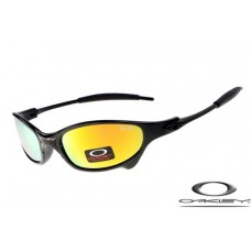 Oakley Juliet Sunglasses Polishing Black Frame Fire Yellow Iridium Lens