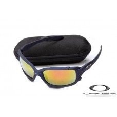 Cheap Oakleys Jawbone Fake Dark Blue Frame Fire Yellow Lens