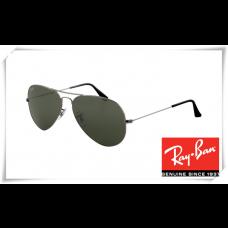 Ray Ban RB3025 Aviator Sunglasses Gunmetal Frame Deep Green Lens