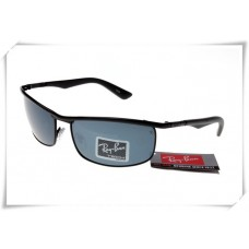 Ray Ban RB3459 Sunglasses Black Frame Grey Lens