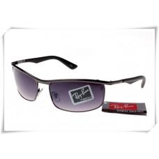 Ray Ban RB3459 Sunglasses Black Frame Purple Gradient Lens