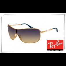 Ray Ban RB3466 Sunglasses Arista Frame Blue Gradient Grey Lens