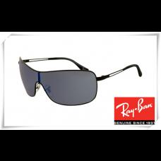 Ray Ban RB3466 Sunglasses Black Frame Grey Lens