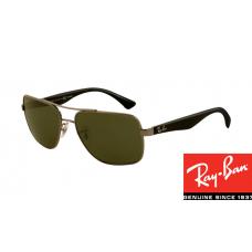 Ray Ban RB3483 HighStreet Sunglasses Gunmetal Frame Deep Green Lens