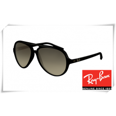 Ray Ban RB4125 Cats Sunglasses Black Frame Grey Lens