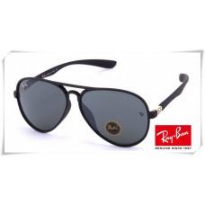 Ray Ban RB4180 Aviator Sunglasses Black Frame Grey Mirror Lens