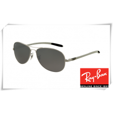 Ray Ban RB8301 Tech Sunglasses Gunmetal Frame Grey Lens