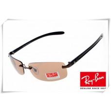 Ray Ban RB8304 Tech Sunglasses Black Frame Orange Lens