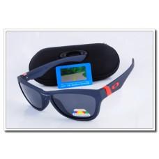 Cheap Fake Oakley Jupiter Polarized Sunglasses Blue Frame Slate grey Iridium Lens Sale