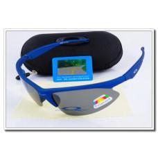 Fake Oakley m frame Polarized Sunglasses Royal Blue Frame Slate grey Iridium Lens Sale