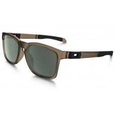 Oakley Catalyst Sunglasses Sepia Frame Dark Gray Lens