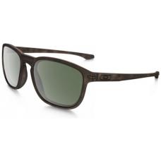 Oakley Enduro Sunglasses Matte Dark Tortoise Brown Frame Dark Grey Lens