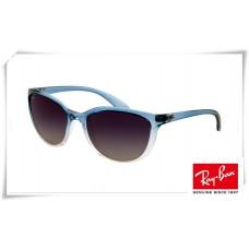 Ray Ban Erika RB4274 Sunglasses Blue Gradient Frame Grey Mirror Lens