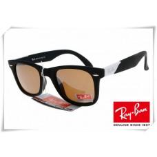 Ray Ban RB2157K Ultra Wayfarer Sunglasses Black Frame Brown Lens