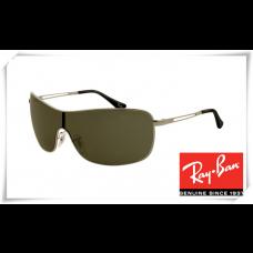 Ray Ban RB3466 Sunglasses Gunmetal Frame Green Lens