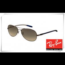 Ray Ban RB8301 Tech Sunglasses Gunmetal Frame Grey Gradient Lens