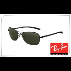 Ray Ban RB8302 Tech Sunglasses Black Frame Green Lens