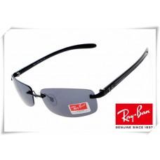 Ray Ban RB8304 Tech Sunglasses Black Frame Grey Lens