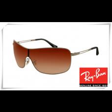 Ray Ban RB3466 Sunglasses Gunmetal Frame Brown Gradient Lens