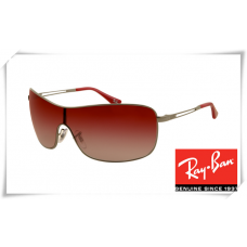 Ray Ban RB3466 Sunglasses Gunmetal Frame Wine Red Gradient Lens