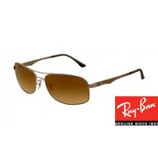 Ray Ban RB3483 HighStreet Sunglasses Gunmetal Frame Brown Gradient Lens
