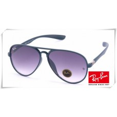 Ray Ban RB4180 Aviator Sunglasses Blue Grey Frame Purple Gradient Lens
